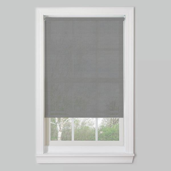 Bali Cut To Size Cut To Size Charcoal Cordless Uv Blocking Fade Resistant Roller Shades 53 5 In W X 72 In L 20x72cdlspsrc The Home Depot