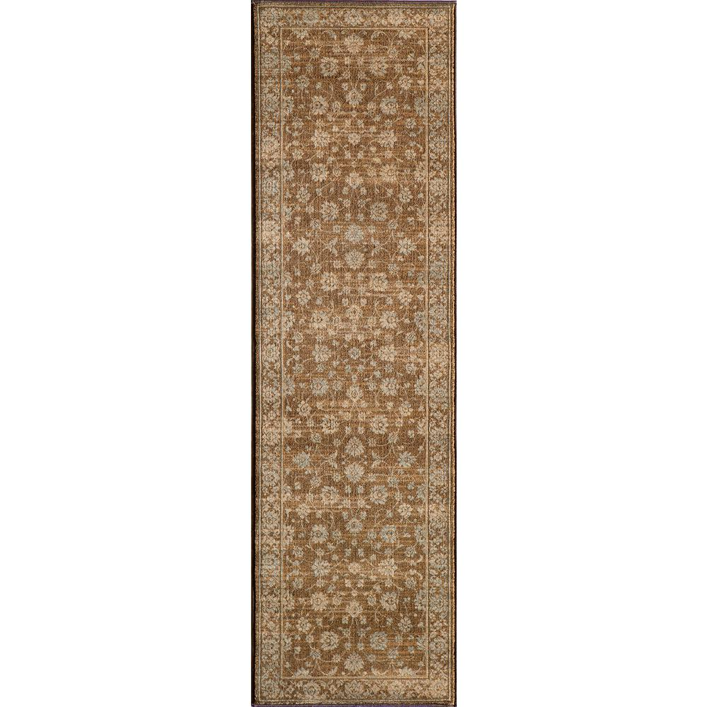 Momeni Buckingham Brown 2 ft. 3 in. x 7 ft. 6 in. Indoor Runner