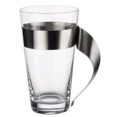New Wave 16 oz. Glass and Stainless Steel Macchiato Mug