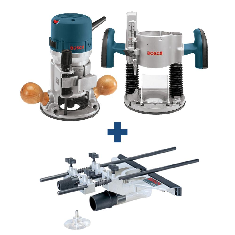 Bosch 12 Amp 2-1/4 HP Plunge and Fixed Base Corded Router Kit