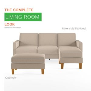 Peachy Novogratz Bowen Beige Sectional Sofa With Contrast Welting Gmtry Best Dining Table And Chair Ideas Images Gmtryco