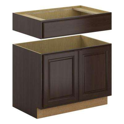 Madison Assembled 36x34.5x24 in. Accessible Sink Base Cabinet in Espresso