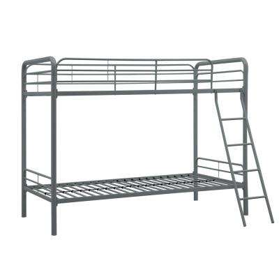 Elen Silver Twin Metal Bunk Bed