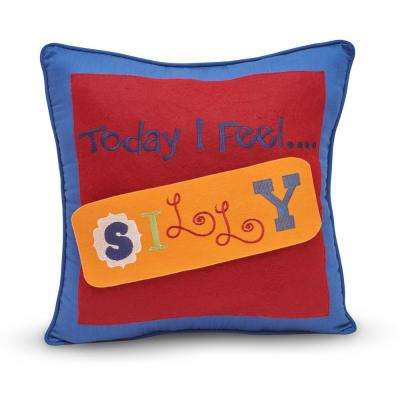 Callen 100% Cotton 18 in. Feelings Pillow