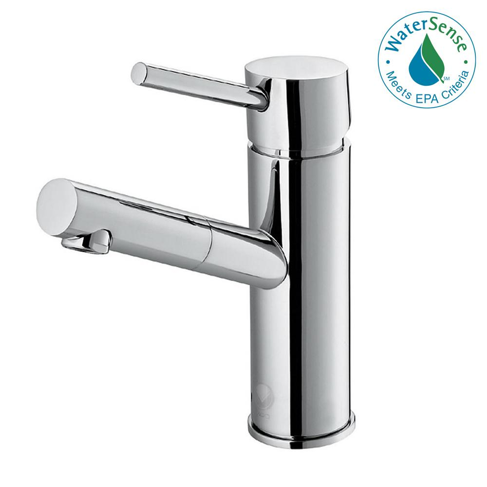 VIGO Single Hole Single-Handle Bathroom Faucet in Chrome-VG01009CH ...