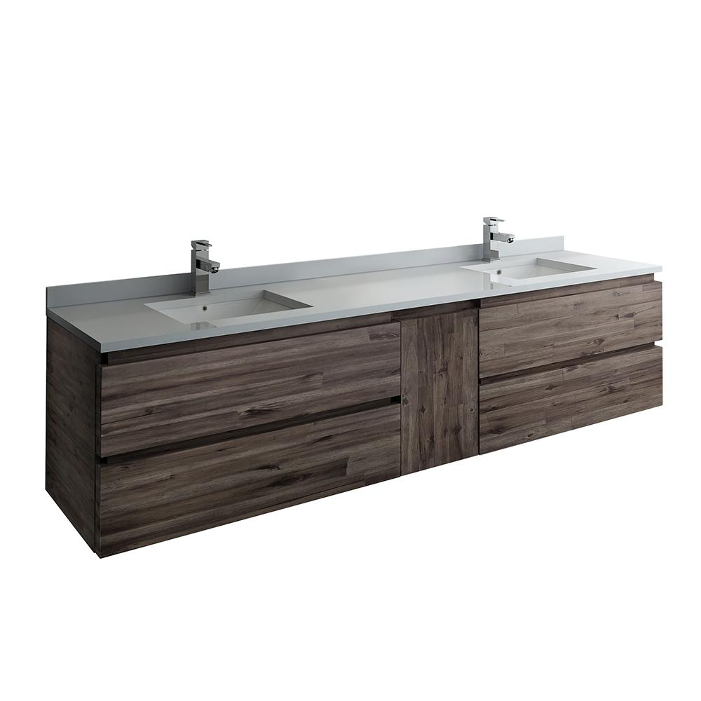 Fresca Formosa 82 In W Modern Double Wall Hung Vanity Cabinet Only
