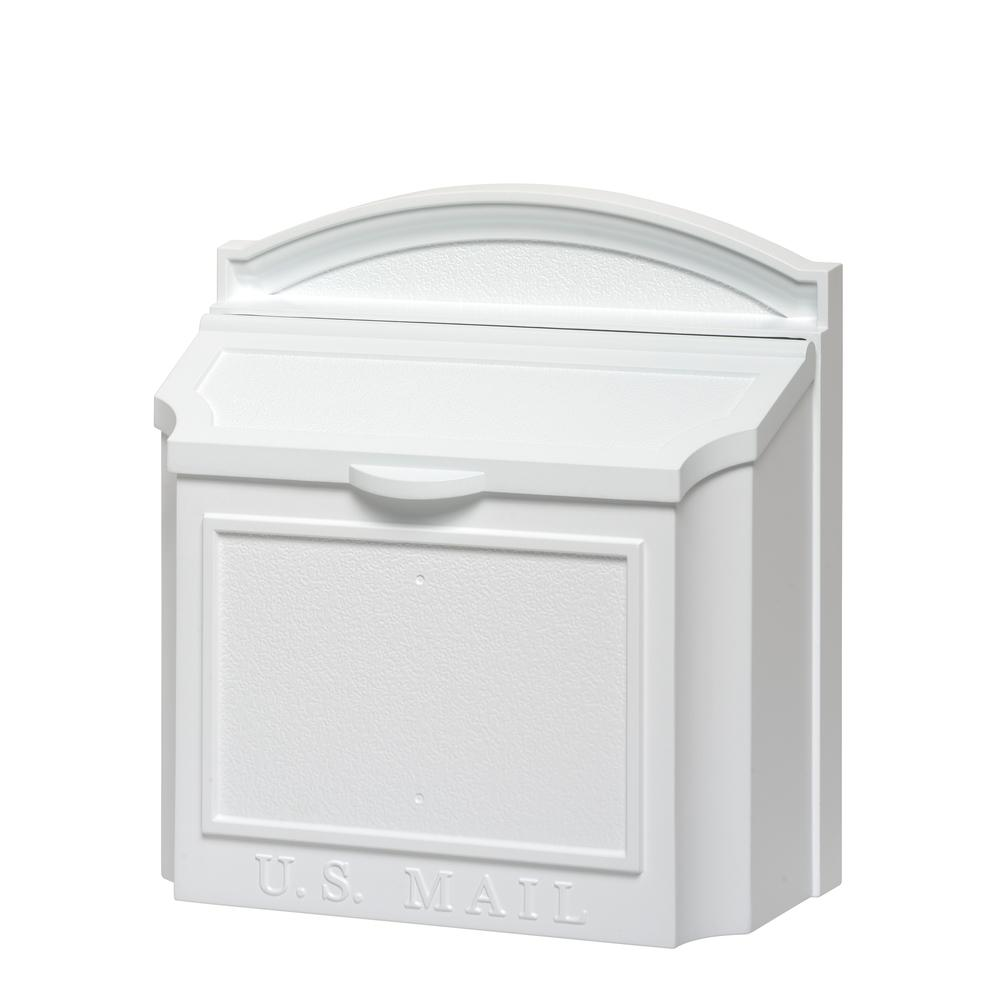 Whitehall Products White Wall Mailbox 16139 The Home Depot