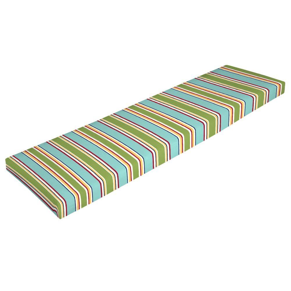 Arden Beachside Stripe Outdoor Bench Cushion-DISCONTINUED