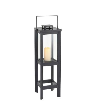 35 in. Small Size Outdoor Patio Square Arlen Floor Lantern
