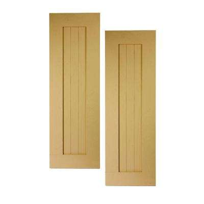 46 in. x 15 in. x 1 in. Polyurethane Timber Panel with Border Shutters Pair