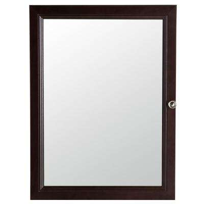 Delridge 22 in. W x 30 in. H x 6 in. D Framed Surface-Mount Modular Bathroom Medicine Cabinet in Chocolate