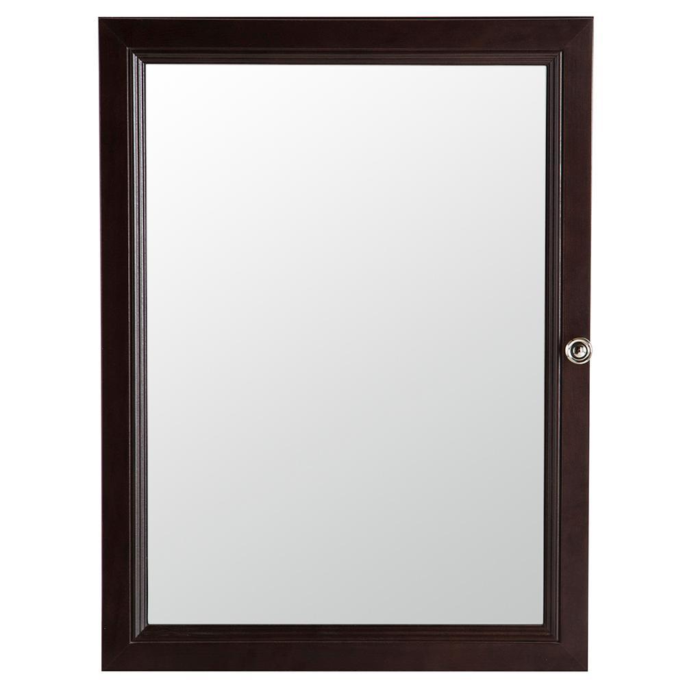 Delridge 22 in. W x 30 in. H x 6 in. D Framed Surface-Mount Modular Bathroom Medicine Cabinet in Chocolate