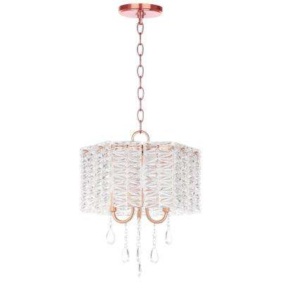 Harlyn 3-Light Copper Chandelier with Clear Shade