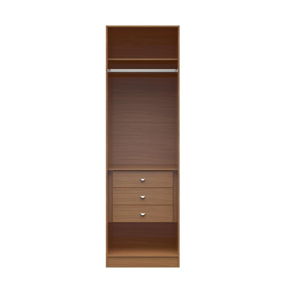 Delicieux Manhattan Comfort Chelsea 1.0  7.55 In. W Maple Cream Basic Wardrobe Closet  With 3