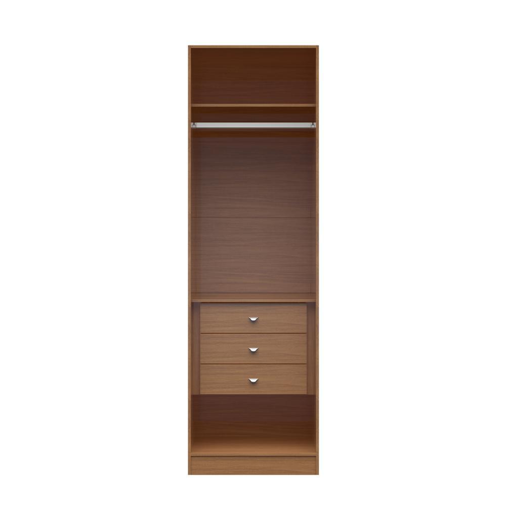Delicieux Manhattan Comfort Chelsea 1.0  7.55 In. W Maple Cream Basic Wardrobe Closet  With 3