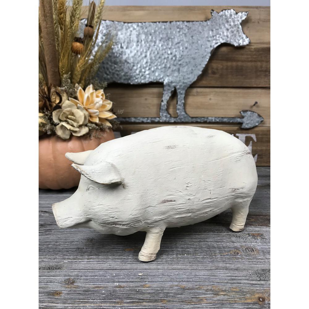 Resin Wood Pig Sculpture