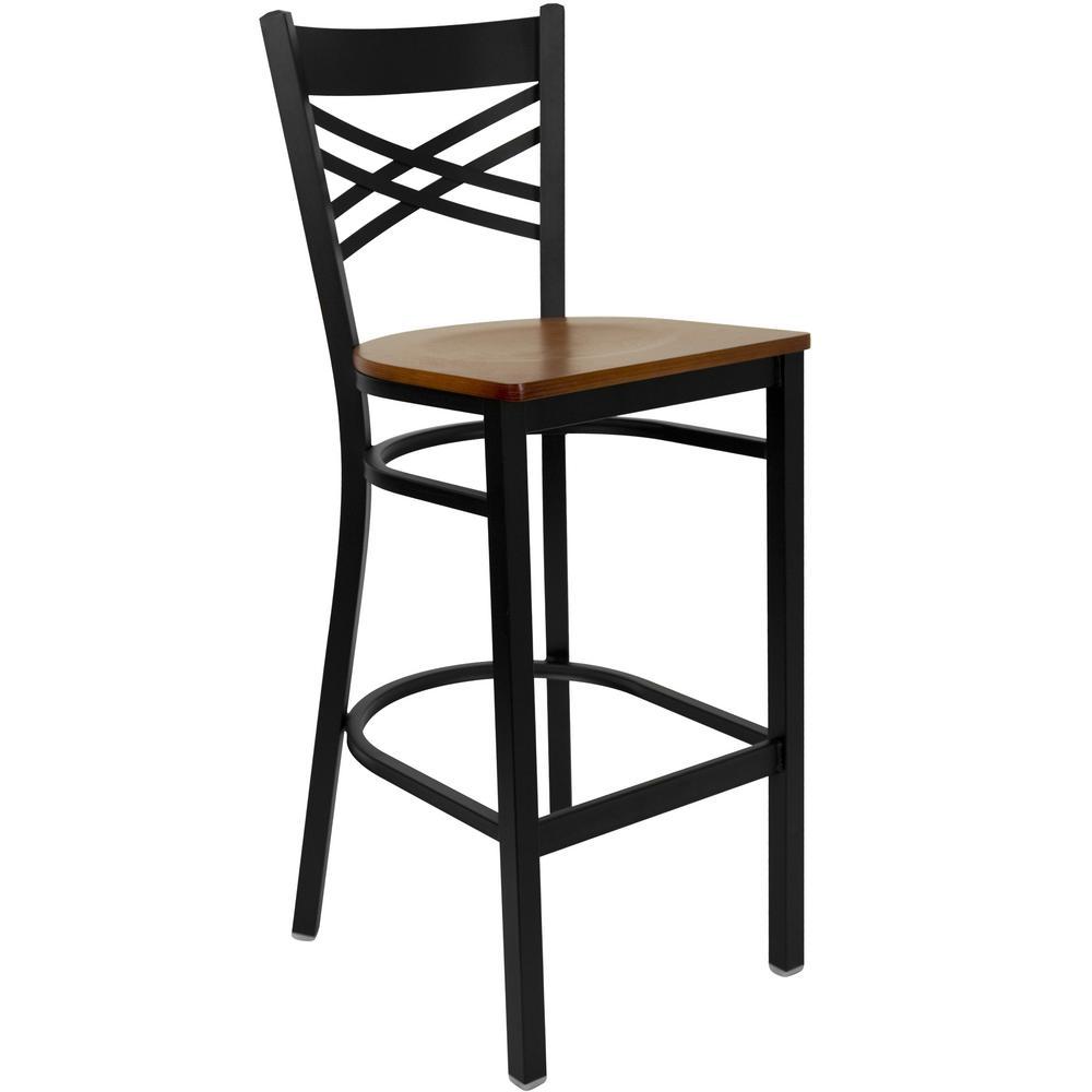 Flash Furniture 29 in. Black and Cherry Bar Stool XU6FOBXBARCHW