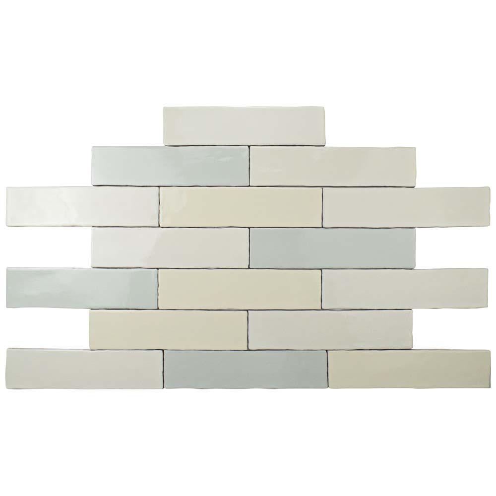 Merola Tile Alaska Craquelle Mix 3 in. x 12 in. Ceramic Wall Tile ...