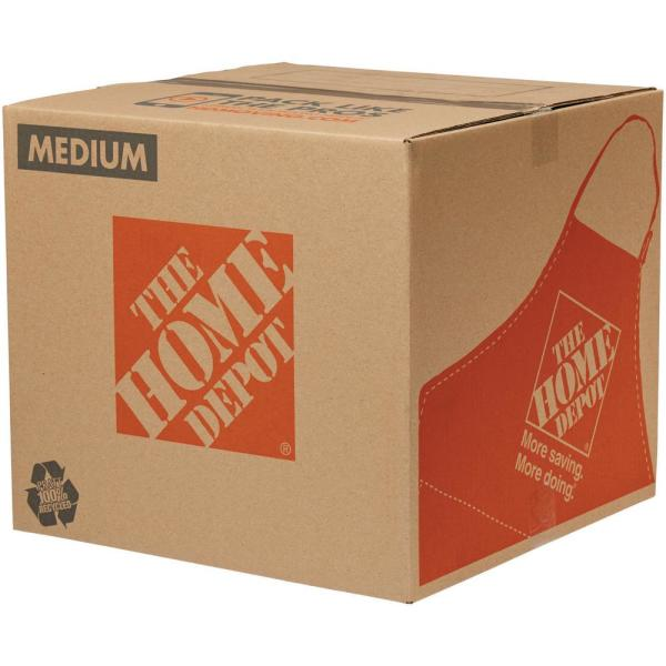 The Home Depot 18 In L X 18 In W X 16 In D Medium Moving Box 1001005 The Home Depot