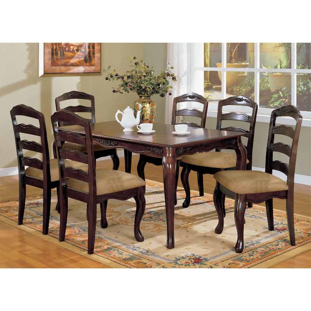 Venetian Worldwide Townsville I 7-Piece Dark Walnut Dining Set ...