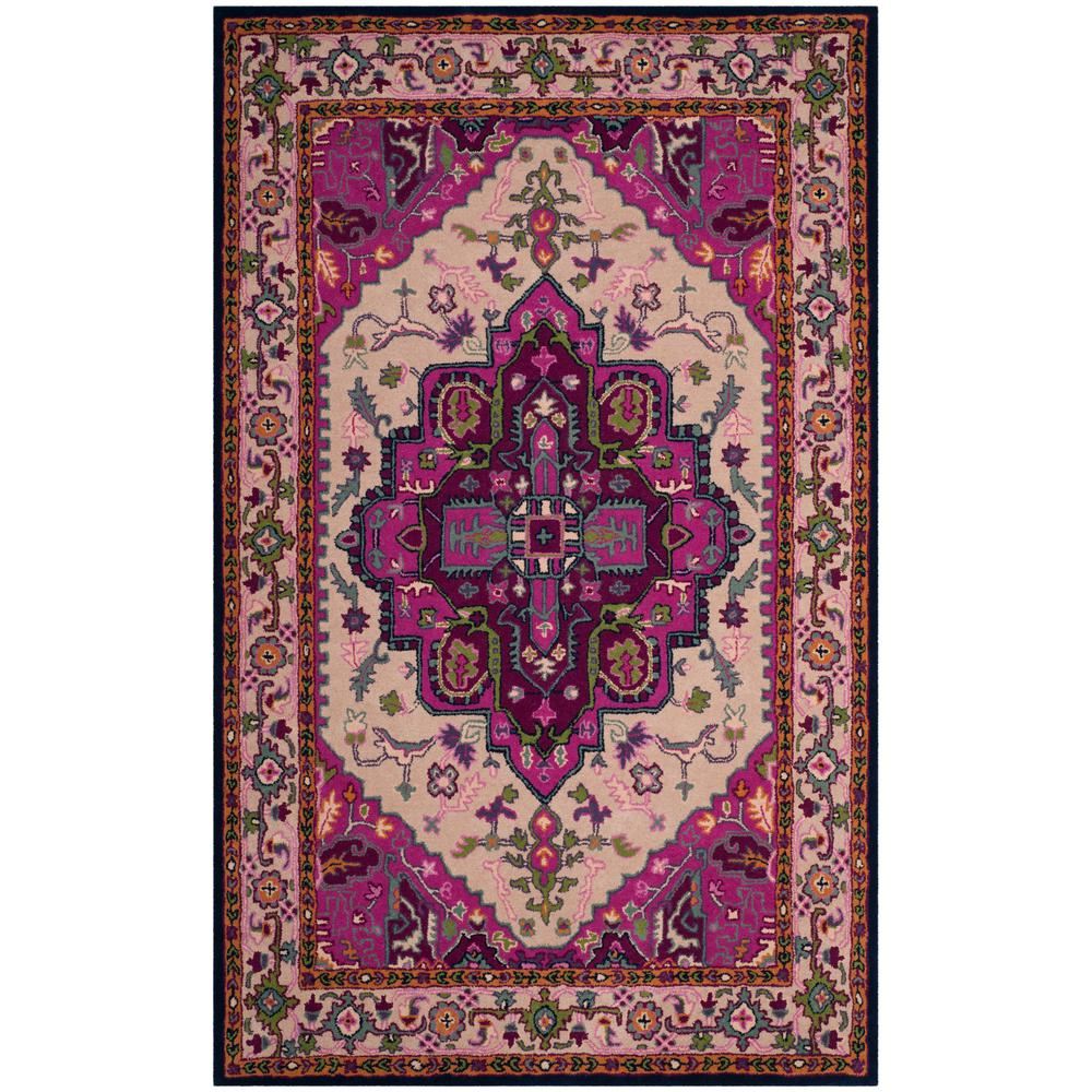 Bellagio Ivory/Pink 5 ft. x 8 ft. Area Rug