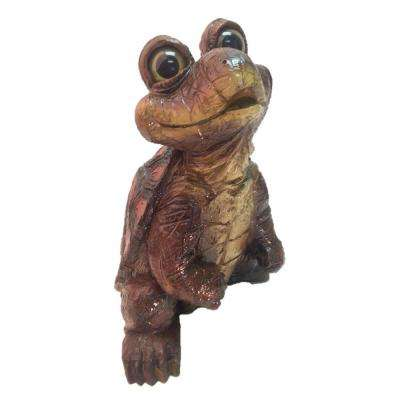 17 in. Standing Turtle Home and Garden Statue