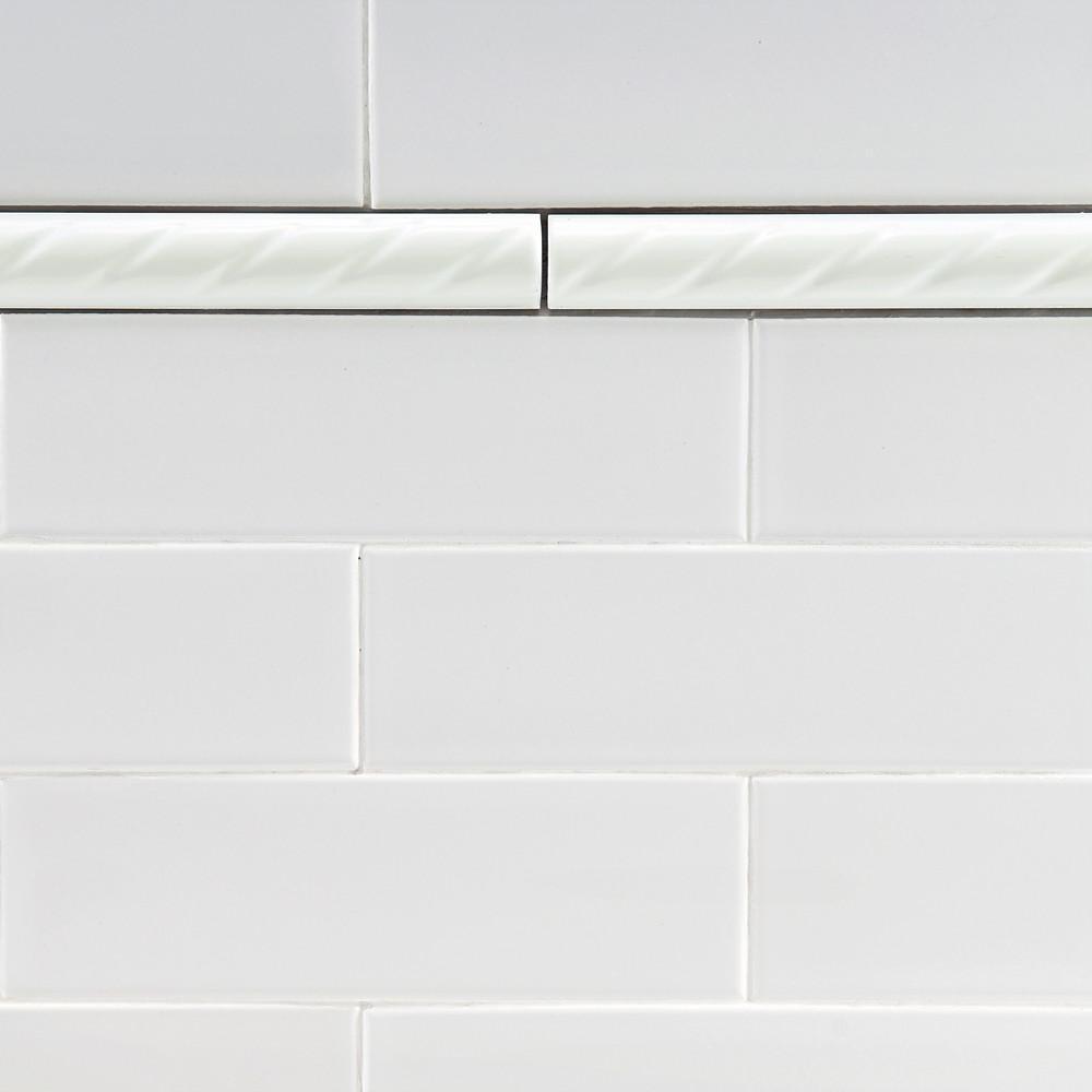Questech Molding Tile for Kitchen Bathroom Shower Ceramic Tile Transition Pieces 6 Pack, Antique Bronze Rope Decorative Liner 1//2 X 12 inch Pencil Tile Liner Trim Metal Finish