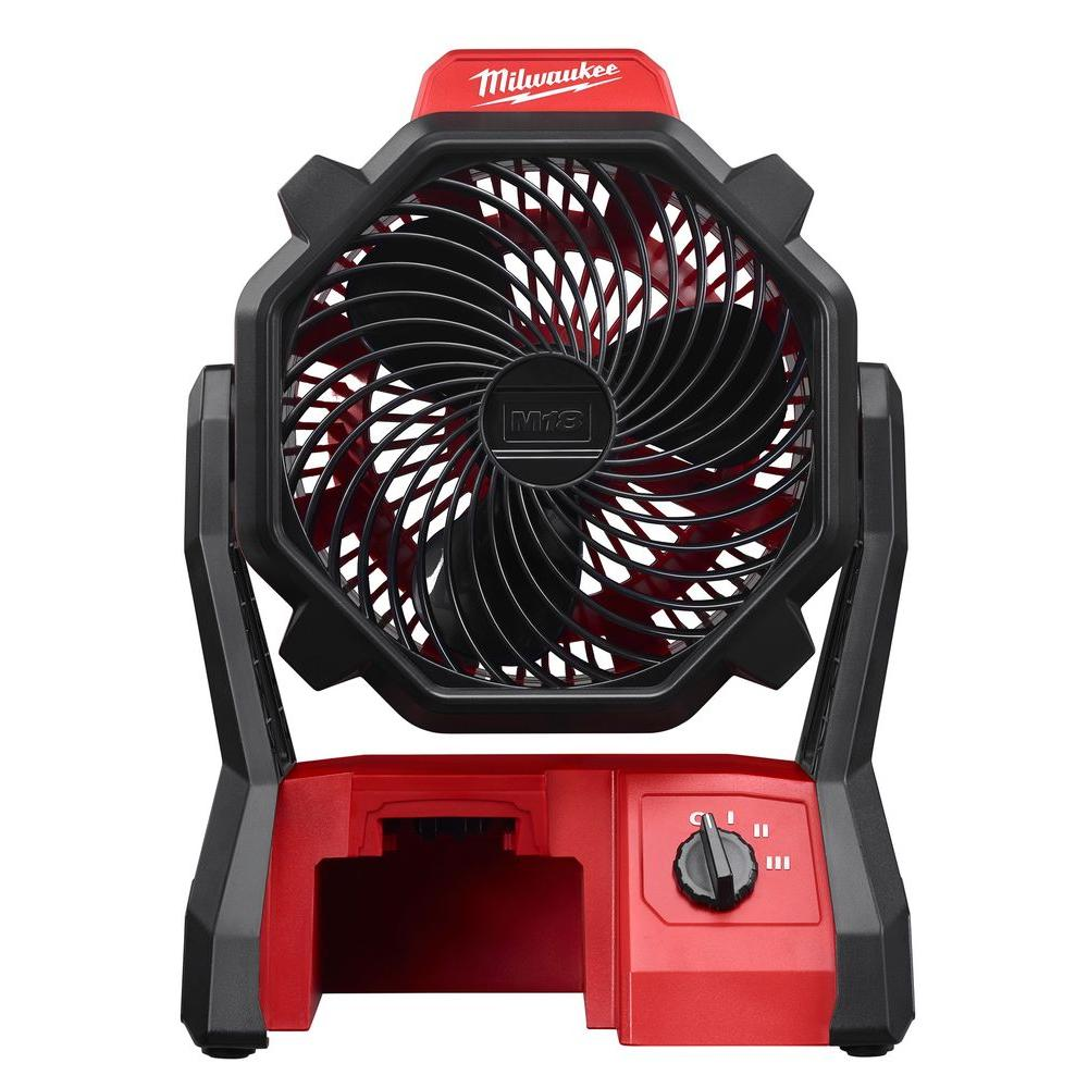 Milwaukee M18 18-Volt Lithium-Ion Cordless Jobsite Fan (Tool-Only)