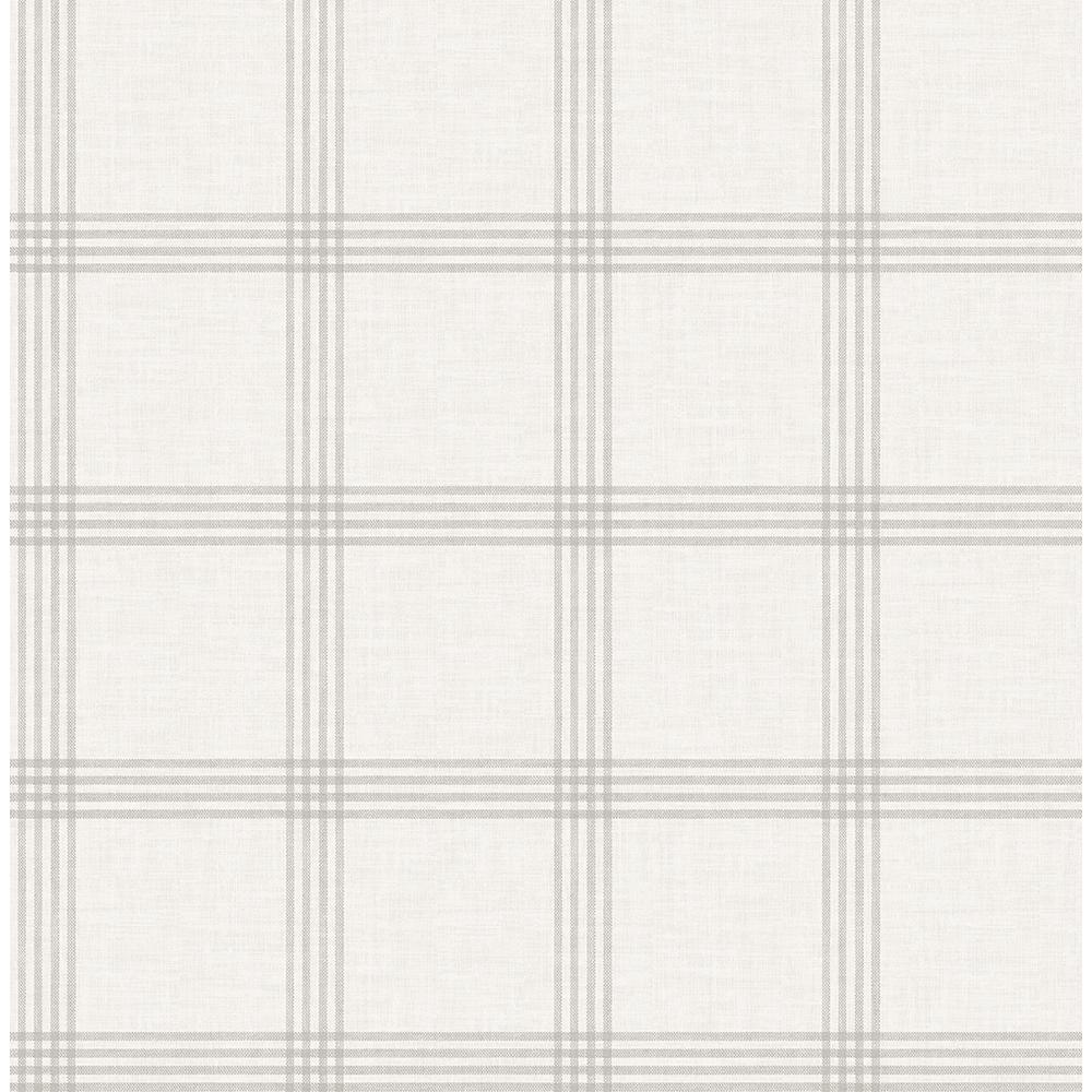 56.4 sq. ft. Ester Dove Plaid Wallpaper