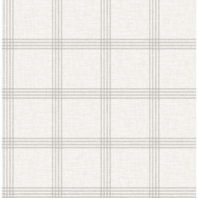 Twain Dove Plaid Strippable Roll (Covers 56.4 sq. ft.)