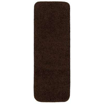 Comfort Collection Brown 9 In. X 26 In. Rubber Back Plush Stair Tread (