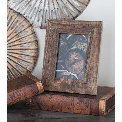 1-Opening 8 in. x 10 in. Rustic Brown Picture Frame