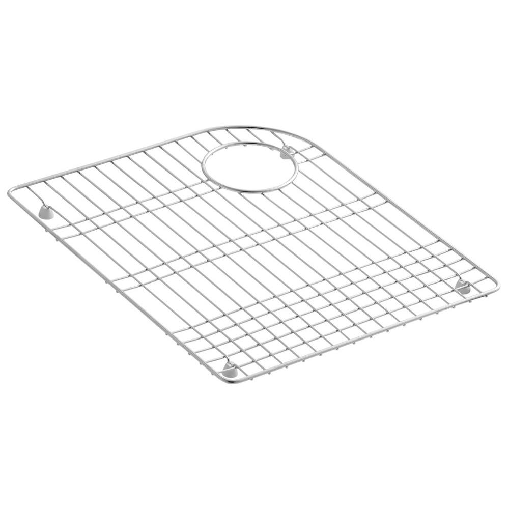 KOHLER Executive Chef 17-5/8 in. x 14-1/4 in. Bottom Sink Bowl Rack for Left-Hand Bowl in Stainless Steel