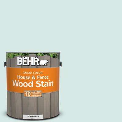 1 gal. #500E-2 Aqua Breeze Solid Color House and Fence Exterior Wood Stain