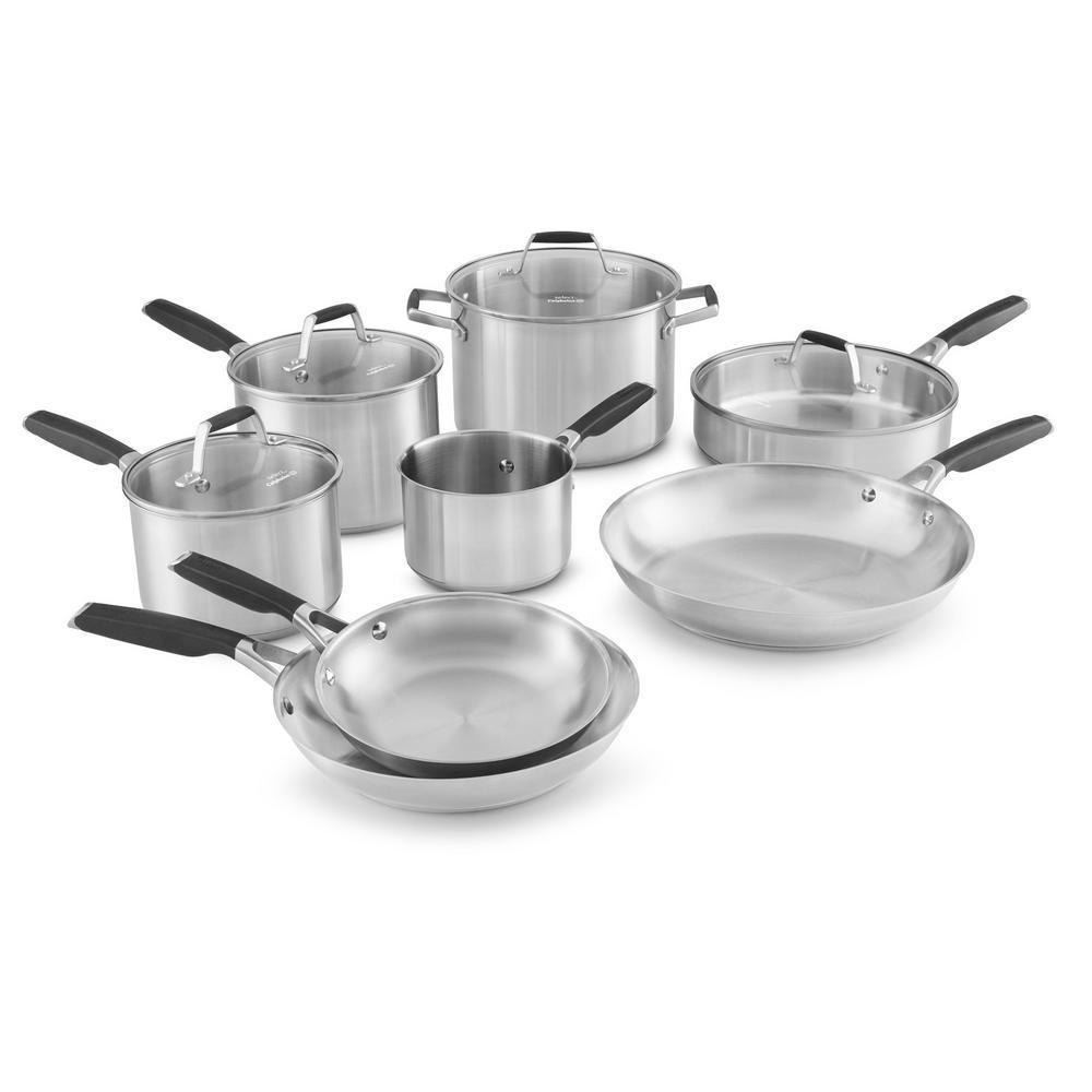 Calphalon Select 12-Piece Stainless Steel Cookware Set by Calphalon