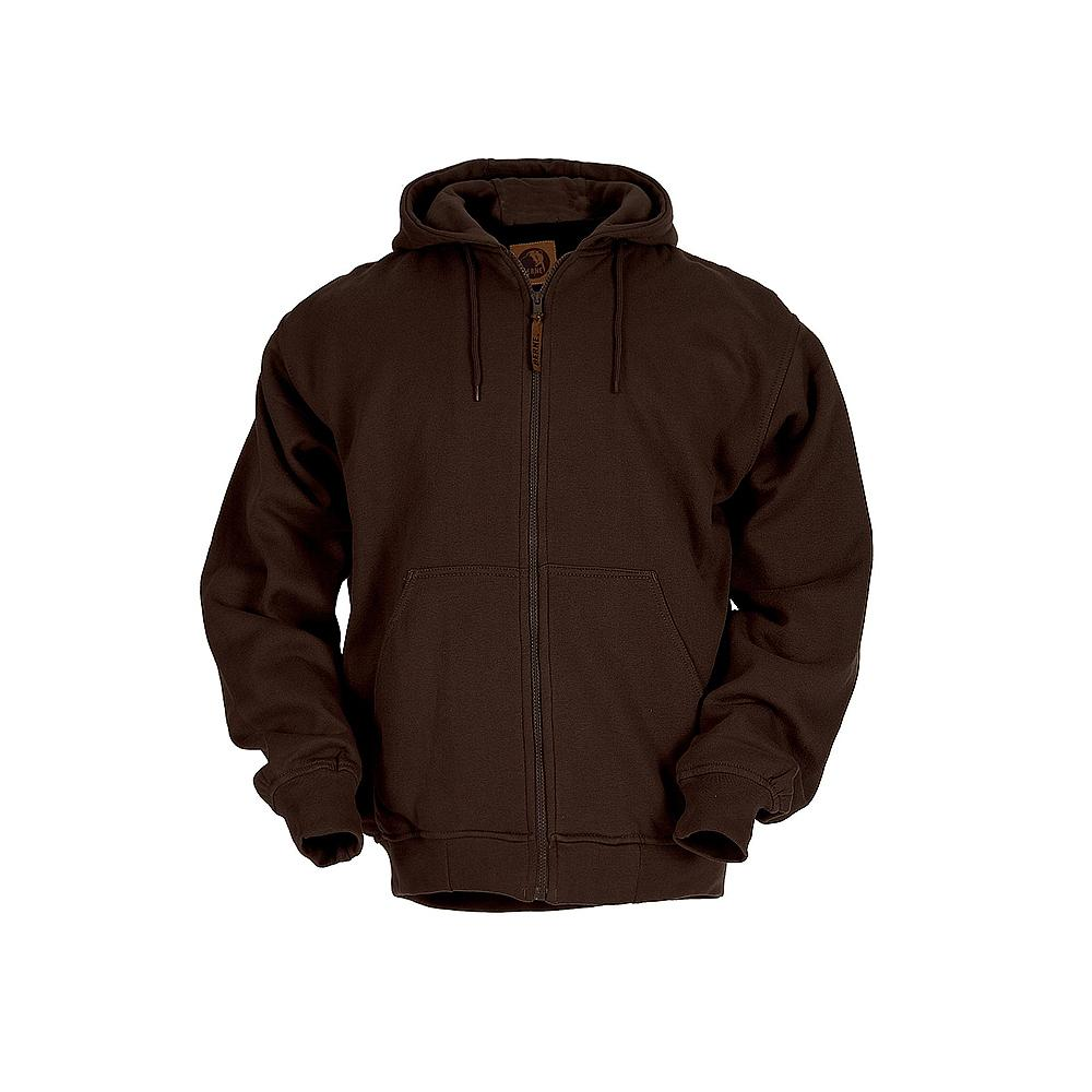 Berne Men's Medium Regular Dark Brown 100% Polyester Original Hooded Sweatshirt