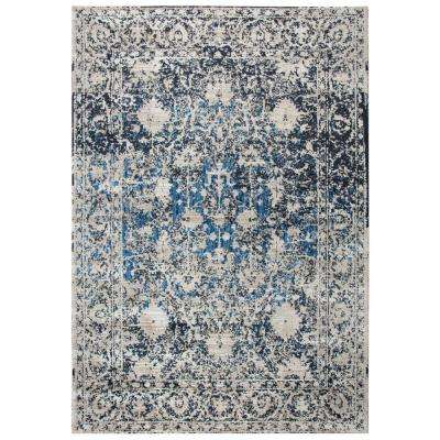 Panache Tan/Blue 3 ft. 3 in. x 5 ft. 3 in. Rectangle Area Rug