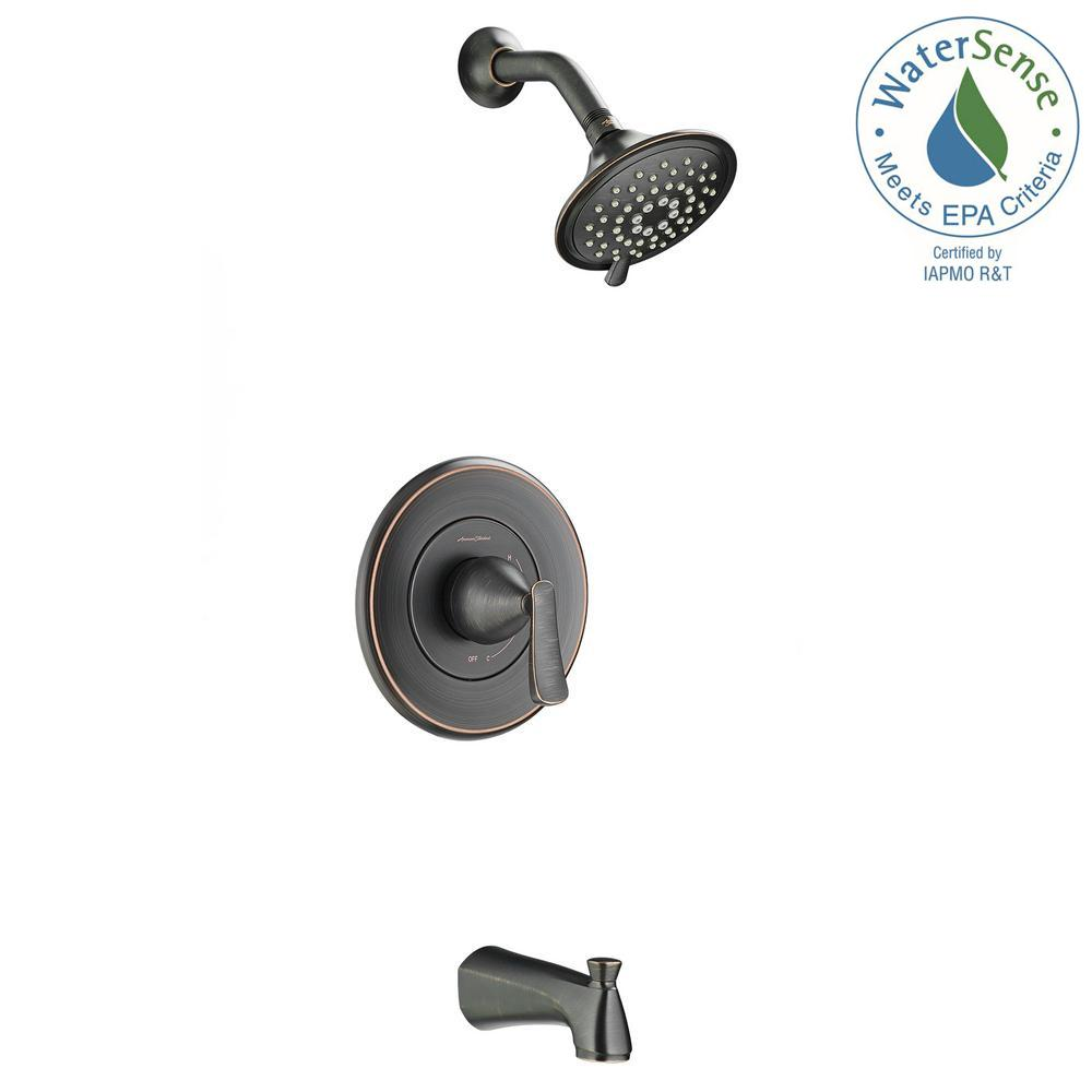 Chatfield Single-Handle 3-Spray Tub and Shower Faucet in Legacy Bronze (Valve