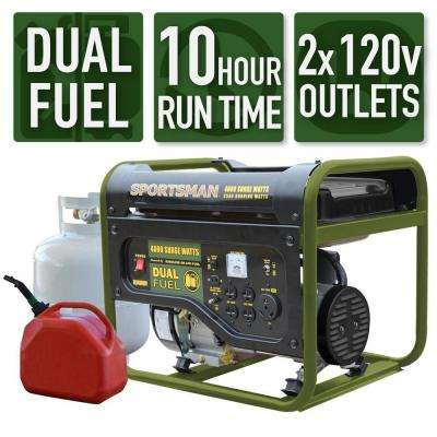 4,000/3,500-Watt Dual Fuel Powered Portable Generator, Runs on LPG or Regular Gasoline