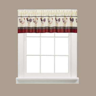Caf Francais 13 in. L Polyester Valance in Multi