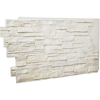 1-1/2 in. x 48 in. x 25 in. Dove White Urethane Dry Stack Stone Wall Panel