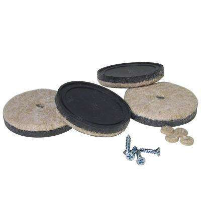 1-1/2 in. Screw-on Felt Pads (4-Pack)