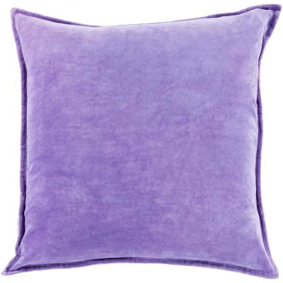 Velizh Purple Solid Polyester 18 in. x 18 in. Throw Pillow