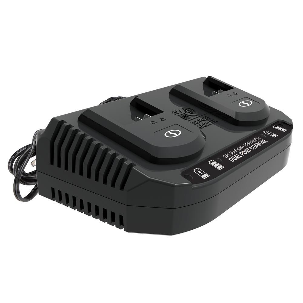 24-Volt Dual Port Quick Charge Docking Station for iBAT24 and 24-Volt BAT Series Batteries