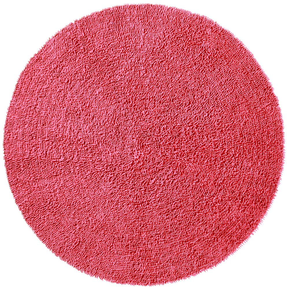 Pink Shag Chenille Twist 5 Ft X 5 Ft Round Area Rug Chs5004r The