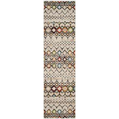 Amsterdam Ivory/Multi 2 ft. 3 in. x 10 ft. Runner