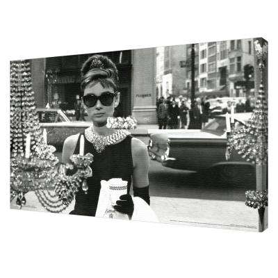 "24 in. x 36 in. ""Audrey Hepburn - Window"" Printed Canvas Wall Art"