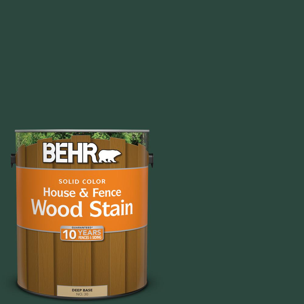 BEHR 1 gal. #SC-114 Mountain Spruce Solid Color House and Fence Wood Stain