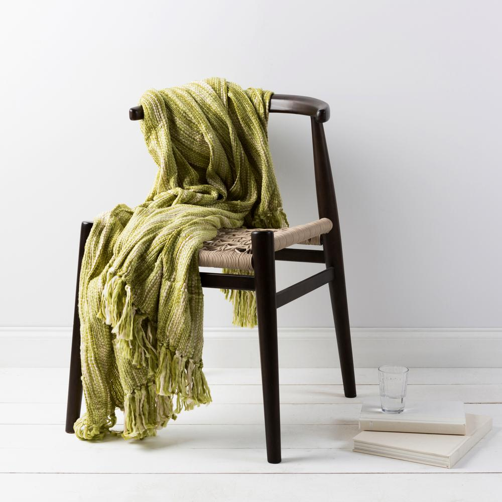 Hollyn Lime Acrylic Throw