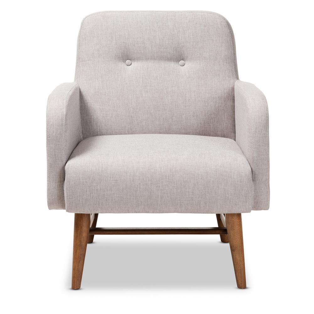 Perrine Greyish Beige Fabric Lounge Chair